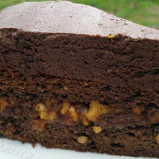 Caramel Peanut Fudge Cake
