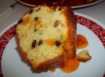 Apricot Cream Cheese Bundt Cake