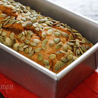 Low Fat Pumpkin Bread With Pepitas.