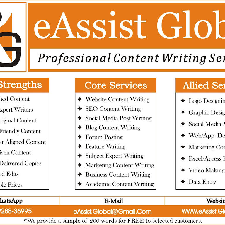 eAssist Global - Content Writing Services - Professional