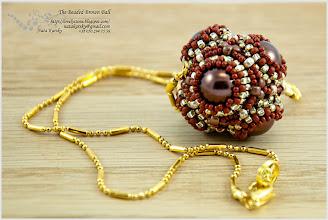 Photo: The Beaded Brown Ball - Обплетені намистини