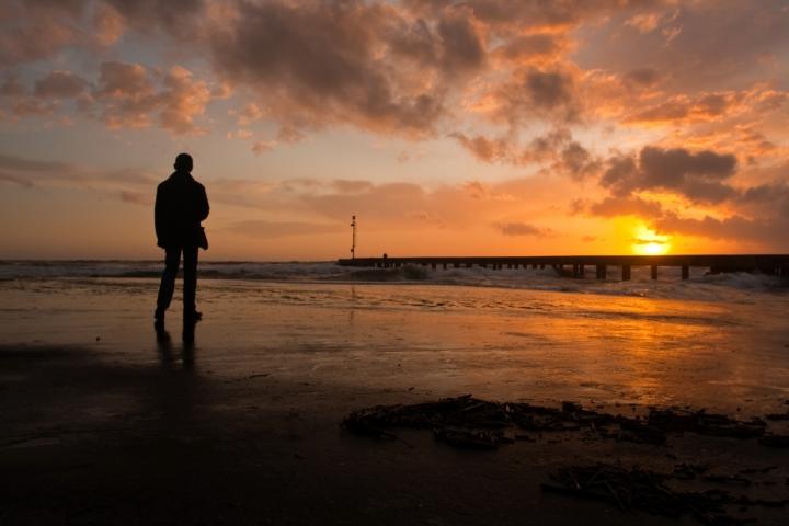 Un uomo e il mare di tolmino