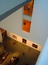 Photo: looking way down to the lobby at MOMA