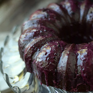 Chocolate Huckleberry Rum Cocktail Cake