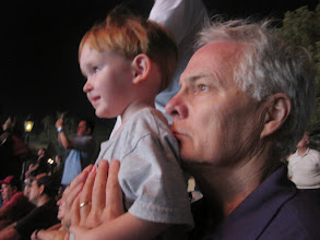 Photo: Day 3 - The two Richards watching the amazing fireworks show at EPCOT.