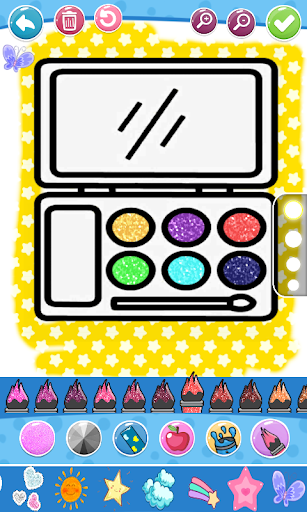 Glitter Beauty Accessories Coloring and drawing  Wallpaper 12
