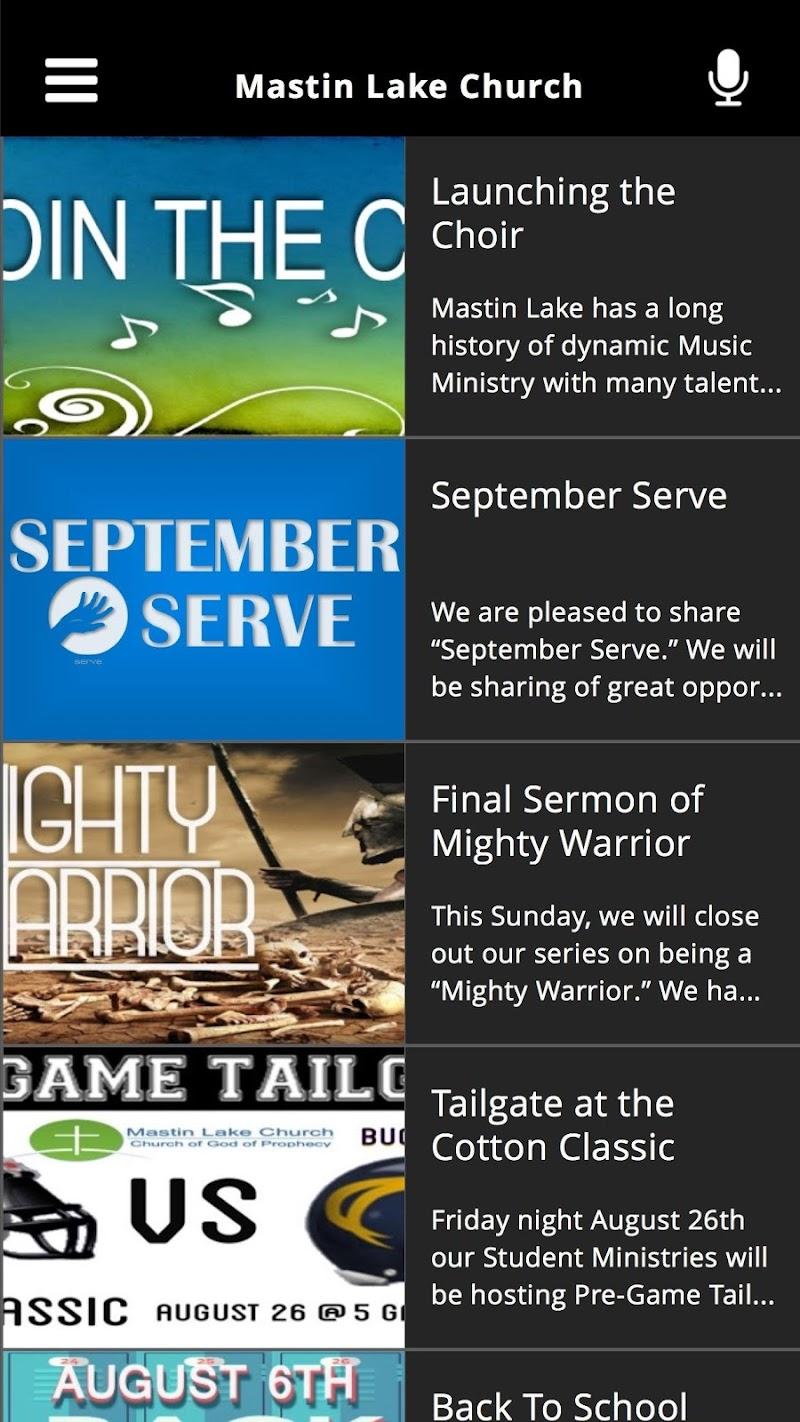 Скриншот Mastin Lake Church