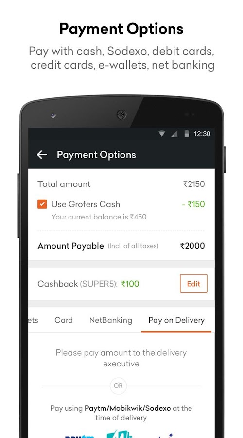 Grofers - Order Grocery Online- screenshot