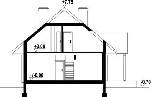 Chmielowo x dw - Przekrój