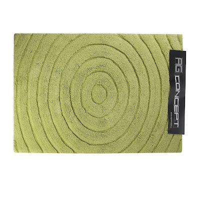 Коврик для ванной 70х120 оливковый круги Ag concept
