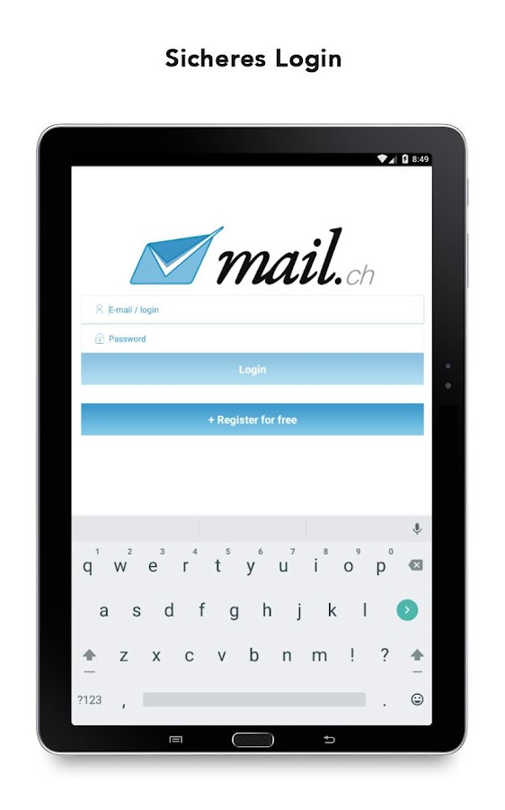 mail.ch Mail- screenshot