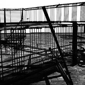 The Escape by Adam Bunce - Buildings & Architecture Architectural Detail ( building, stairs, adambunce, houlton, fire )