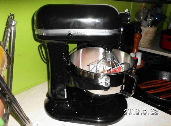 STAND MIXER METHOD:  by Helene M. Dissolve yeast in warm water. Add all ingredients...