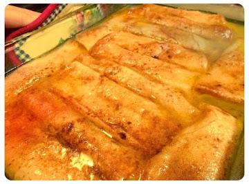 Sinful Peach Enchiladas Recipe
