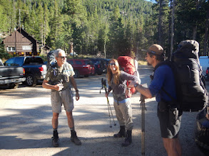 Photo: Ready to start a three day hike into the backcountry of Wild Basin. Photo by Bill Walker