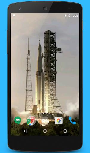 Space Rocket Video Wallpaper