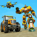Flying Tractor Robot Transform Games icon