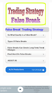 Trading Strategy False Break - náhled