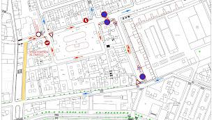 Plano del cambio de ordenación del tráfico en el entorno de Plaza Pavía.