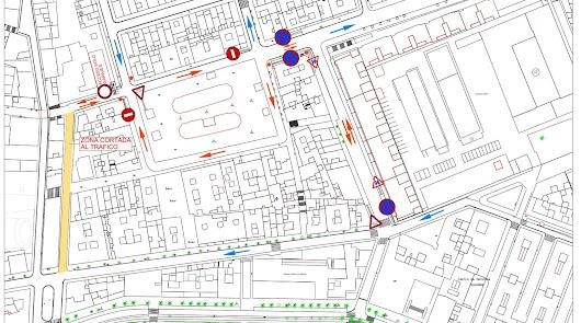 Cambios de tráfico en la Plaza Pavía