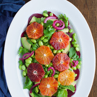 Beet, Avocado, Edamame, and Blood Orange Salad Recipe
