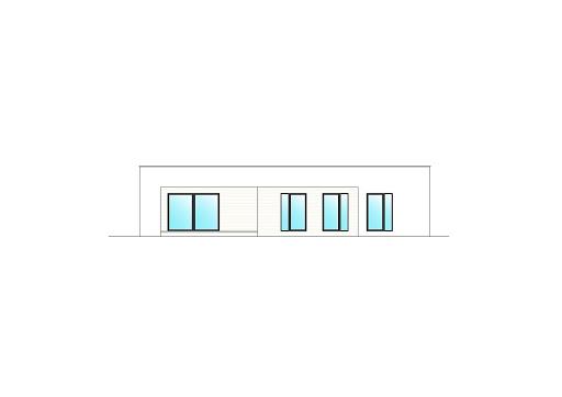 Płaski D11 - Elewacja tylna