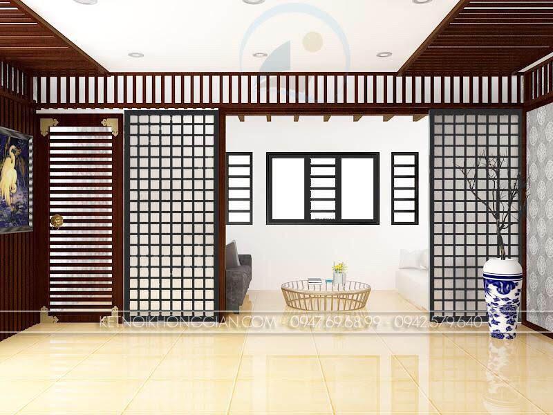 thiết kế phòng trà 1