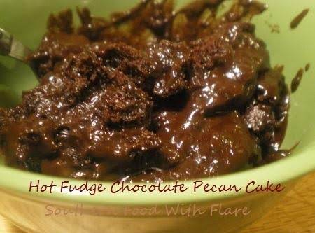 Hot Fudge Chocolate Pecan Cake Recipe