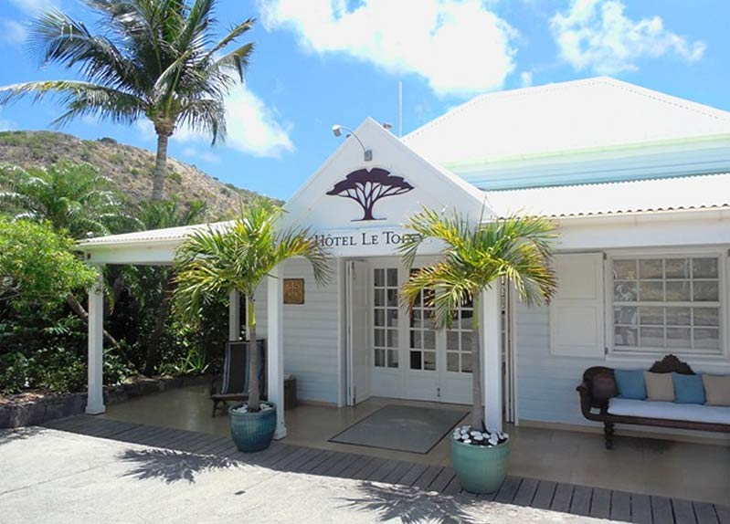The entrance to le chic Le Toiny in St. Barts.