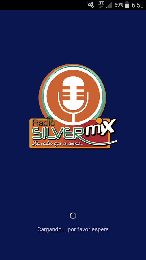Radio Silver Mix: captura de tela