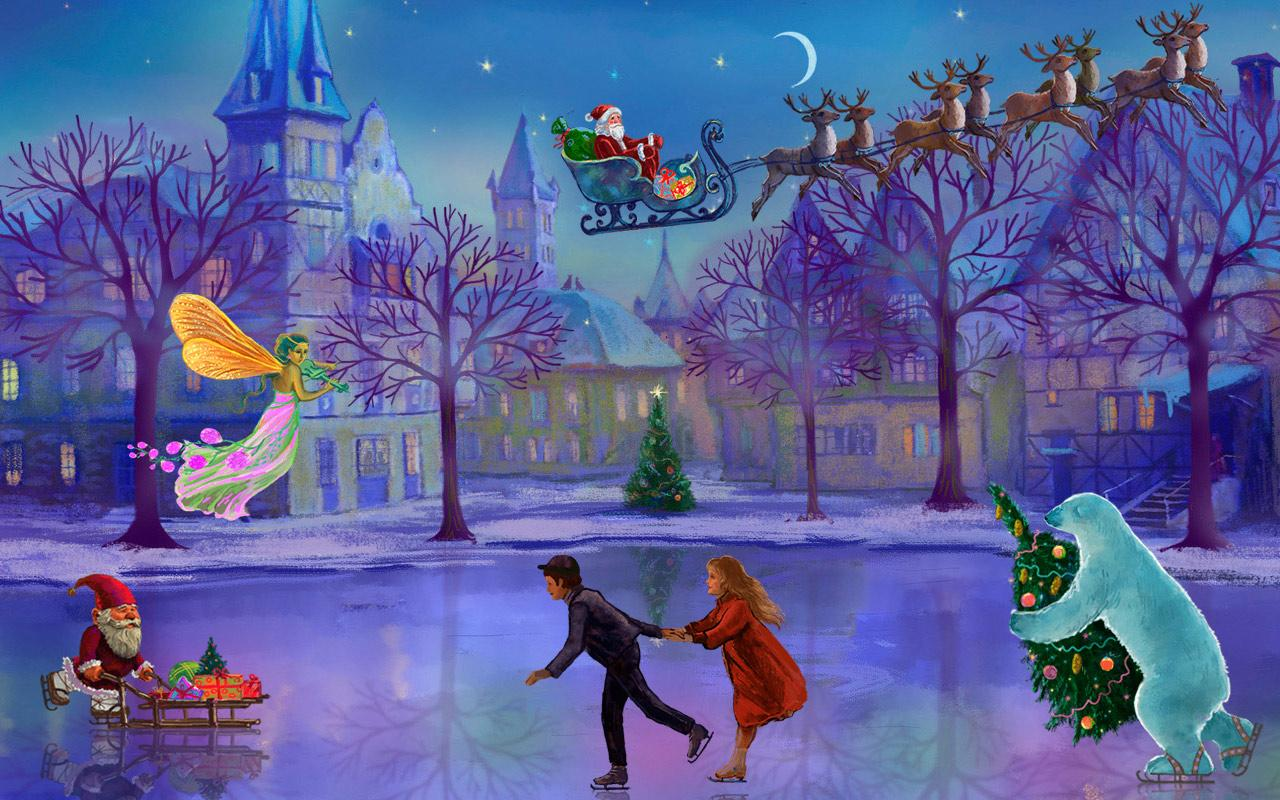 Christmas rink live wallpaper android apps on google play for Decor live beautiful app