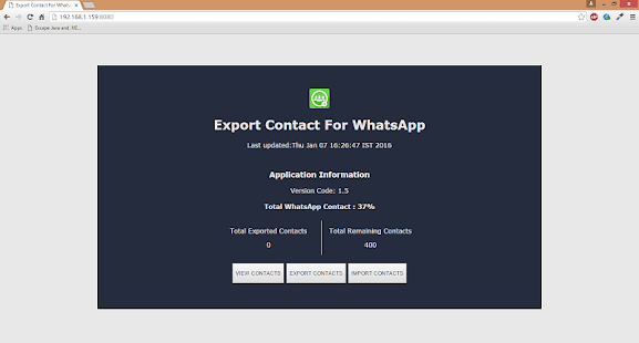 export list of all apps android