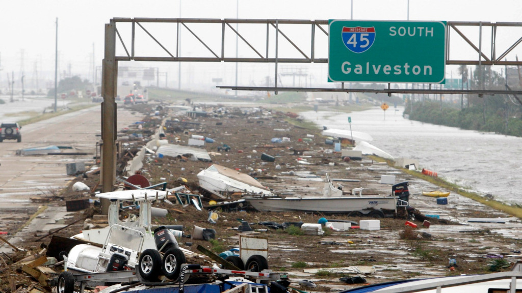 Road to Galveston after Ike