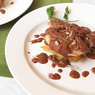Chicken Mole with Parmesan Polenta