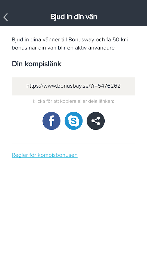 Bonusway Sverige- screenshot