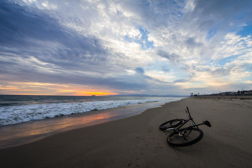 Cruising with your bike at sunrise or sunset can bring a smile to any day.