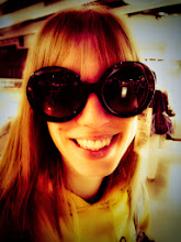 Photo: Hol getting ready for the sun, in duty-free at Manchester airport.