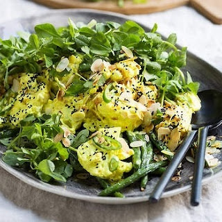 Green Bean, Cauliflower And Fresh Fenugreek Salad