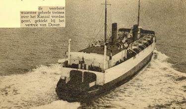 """Photo: """"Hampton Ferry"""" leaving Dover 1935"""