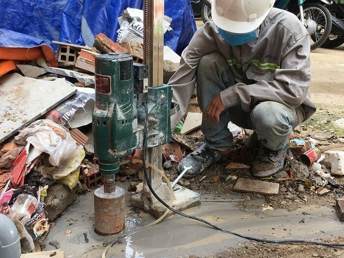 Nhà thầu khoan cắt bê tông Tphcm đầu tư trang bị máy móc hiện đại