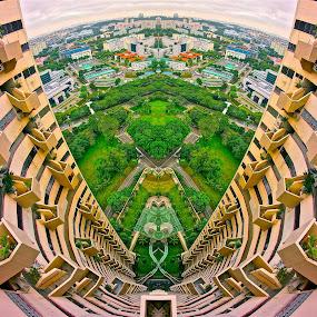 Fisheye City by Sim Kim Seong - Buildings & Architecture Architectural Detail