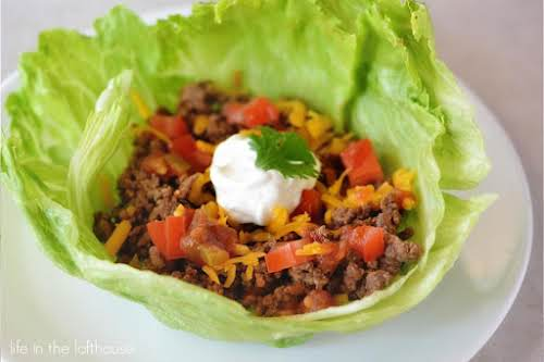 "Taco Lettuce Wraps ""These lettuce wraps are ridiculously simple, but oh so..."