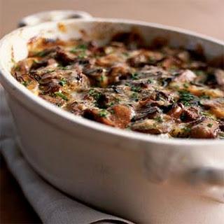 Wild Mushroom-and-Sweet Potato Gratin.