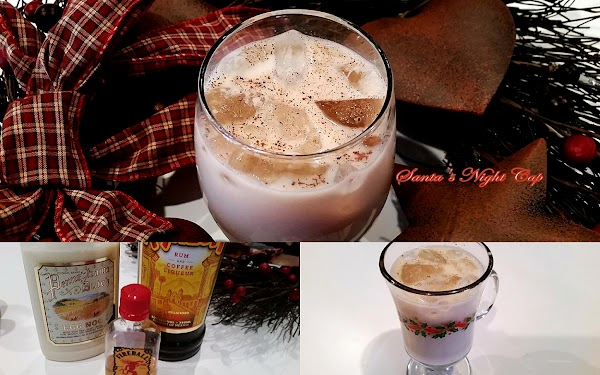 Fill glass 1/2 - 3/4 with ice. Add liquors and fill the rest of...