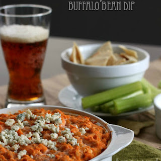 Lightened Up Vegetarian Buffalo Bean Dip
