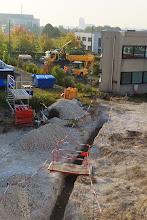 Photo: Vue générale voie d'accès véhicules (Visite de chantier 2 Oct. 2014)