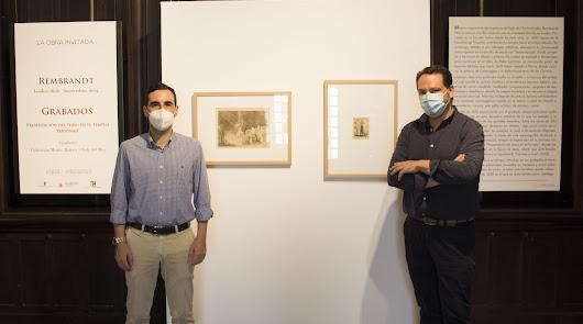 Dos grabados de Rembrandt expuestos en el Museo Doña Pakyta