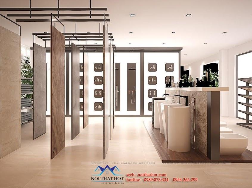 thiết kế cửa hàng thiết bị vệ sinh