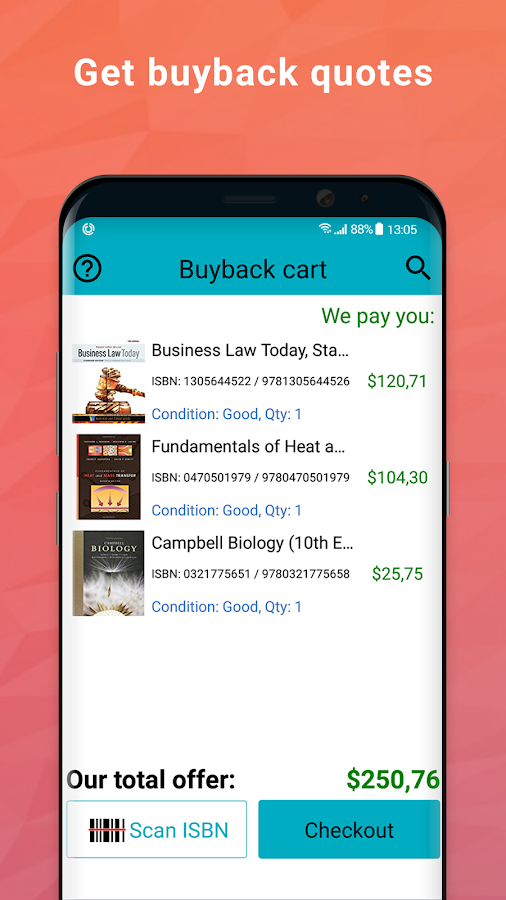 BooksRun: sell used, old or new books & textbooks- screenshot