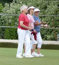Photo: Carole, Jean and Mavis chatting as usual.